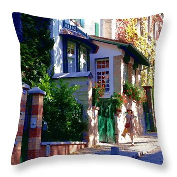 Throw Pillow featuring the photograph Walk In Montmartre  by Jacqueline M Lewis