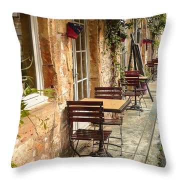 Throw Pillow featuring the photograph French Cafe by Dany Lison