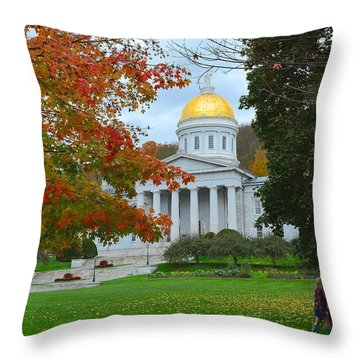 Montpelier Vermont Throw Pillow