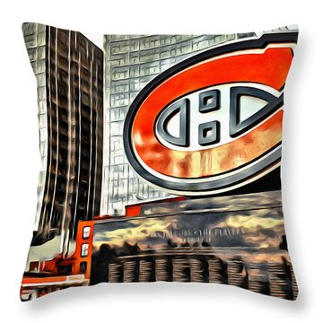 Montreal C Throw Pillow by Alice Gipson