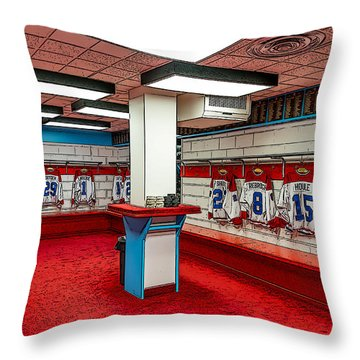 Montreal Canadians Hall Of Fame Locker Room Throw Pillow