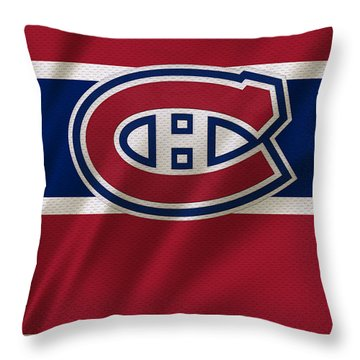 Montreal Canadiens Uniform Throw Pillow