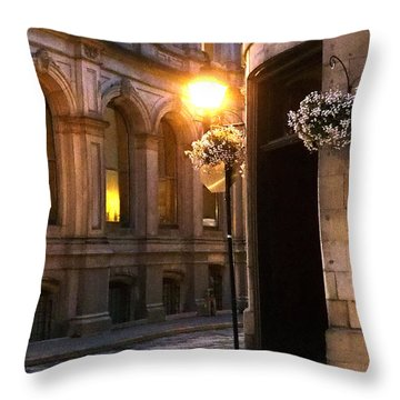 Montreal Night Throw Pillow by Steve Archbold