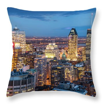 Montreal Panorama Throw Pillow
