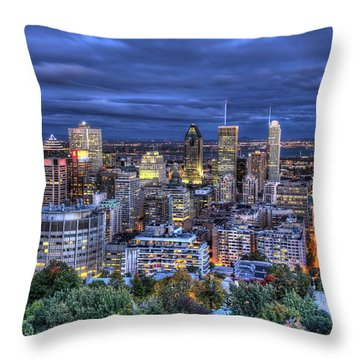 Montreal Skyline At Dusk Throw Pillow by Shawn Everhart