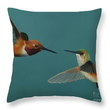 Monty And Tiffany Throw Pillow
