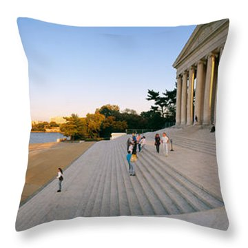 Monument At The Riverside, Jefferson Throw Pillow