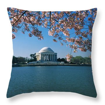 Monument At The Waterfront, Jefferson Throw Pillow by Panoramic Images