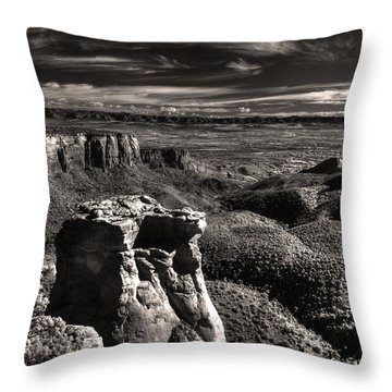 Monument Canyon Monolith Throw Pillow by William Fields