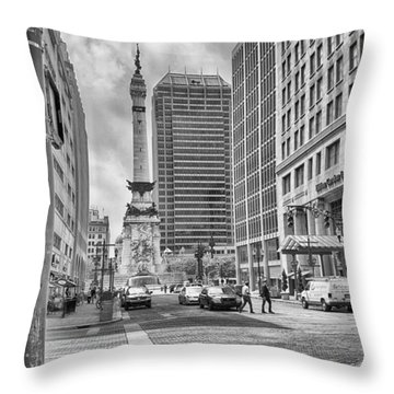 Monument Circle Throw Pillow by Howard Salmon