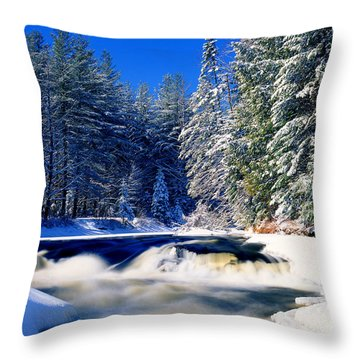 Monument Falls Throw Pillow