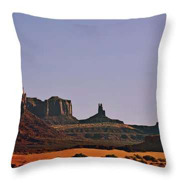 Monument Valley - An Iconic Landmark Throw Pillow by Christine Till