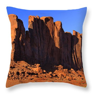 Monument Valley - Camel Butte Throw Pillow by Mike McGlothlen