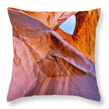 Monument Valley - Eye Of The Sun Throw Pillow by Christine Till