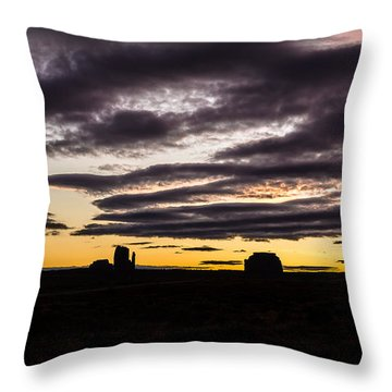 Monument Valley First Light Throw Pillow