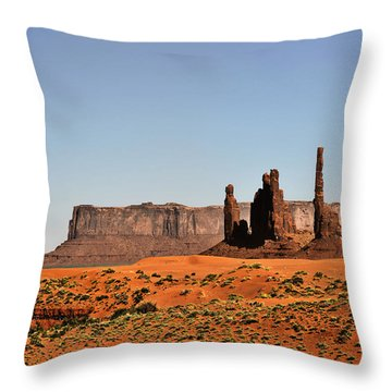 Monument Valley - Icon Of The West Throw Pillow by Christine Till