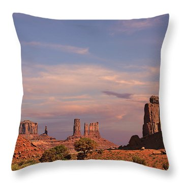 Monument Valley - Mars-like Terrain Throw Pillow