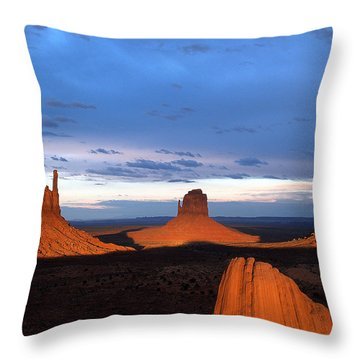 Monument Valley @ Sunset 2 Throw Pillow
