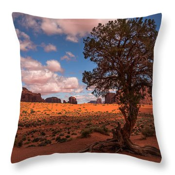 Monument Valley Morning Throw Pillow
