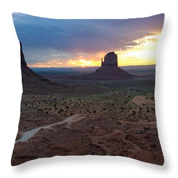 Monument Valley Navajo Tribal Park An Image Worth More Than A Thousand Words Throw Pillow