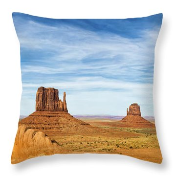 Monument Valley Panorama - Arizona Throw Pillow by Brian Harig
