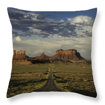 Monument Valley Panorama Throw Pillow by Steve Gadomski
