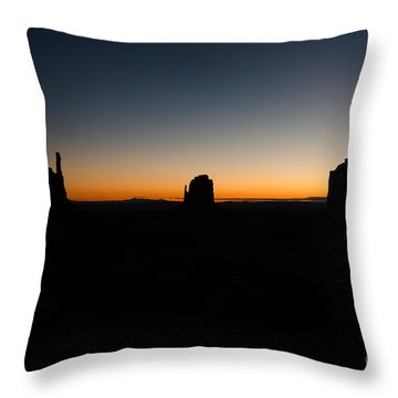 Monument Valley Sunrise Throw Pillow by Jeff Kolker