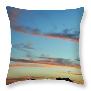 Monument Valley Sunset 3 Throw Pillow