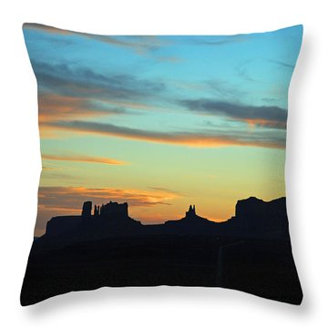 Monument Valley Sunset 4  Throw Pillow