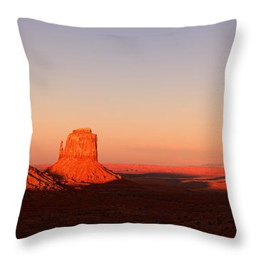 Monument Valley Sunset Pano Throw Pillow
