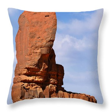 Monument Valley - The Thumb Throw Pillow by Christine Till