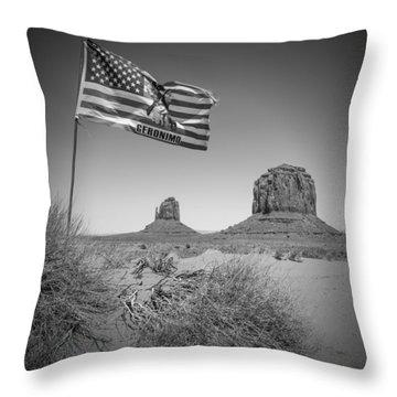 Monument Valley Usa Bw Throw Pillow
