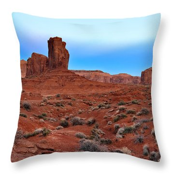 Monument Valley View Throw Pillow