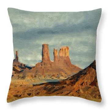 Monumental Throw Pillow by Jeff Kolker