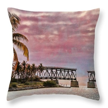 Mood Of The Keys Throw Pillow by Deborah Benoit