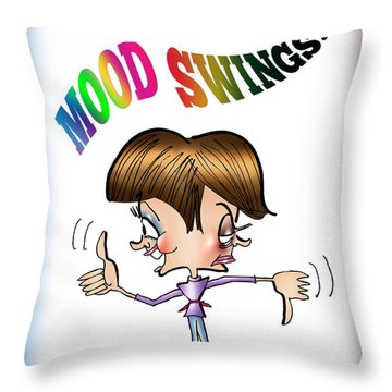 Mood Swings Throw Pillow by Mark Armstrong