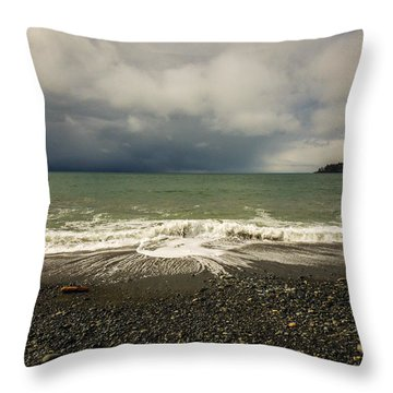 Moody Swirl French Beach Throw Pillow