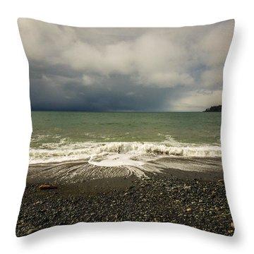 Moody Swirl French Beach Throw Pillow