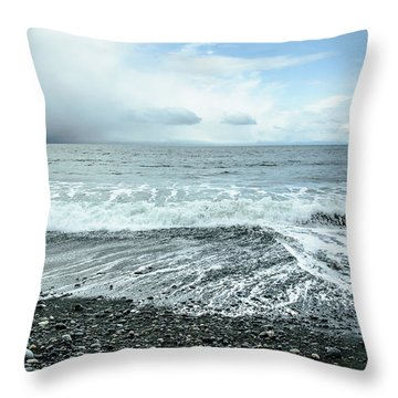 Moody Waves French Beach Throw Pillow