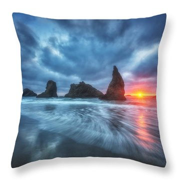 Moody Blues Of Oregon Throw Pillow by Darren  White