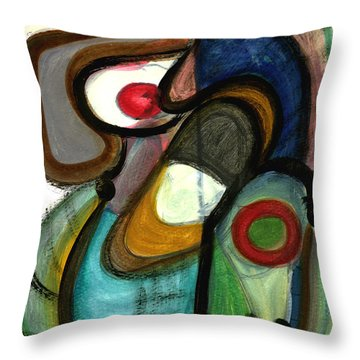 Moody Blues Throw Pillow by Stephen Lucas