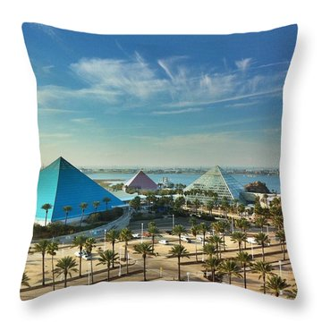 Moody Gardens In Galveston Throw Pillow