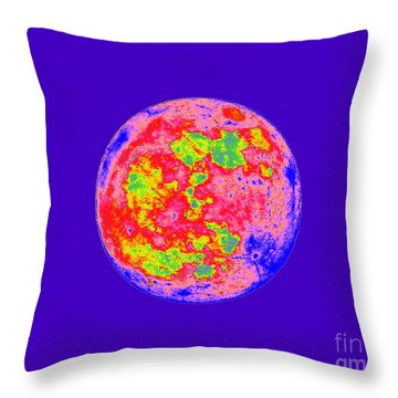 Moody Moon Throw Pillow by Al Powell Photography USA