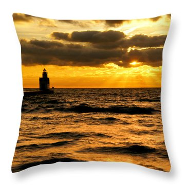 Moody Morning Throw Pillow