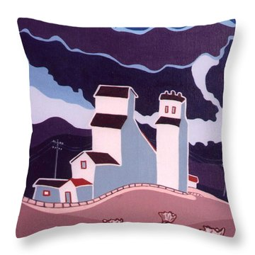 Moody Prairie Day Throw Pillow