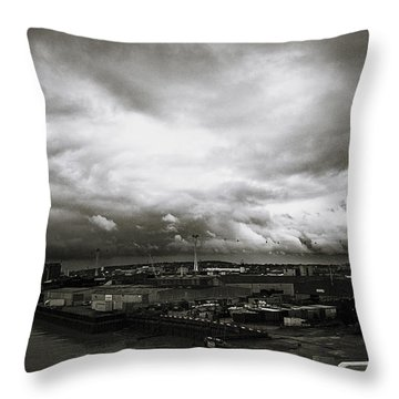 Moody Skies In London Throw Pillow by Lenny Carter