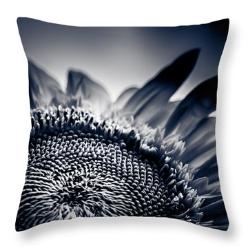 Moody Sunflower Throw Pillow by Isabel Laurent