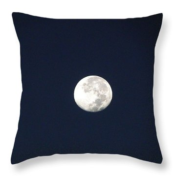 Moon 011  Throw Pillow