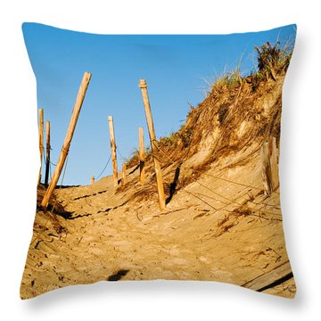 Moon And Dunes Throw Pillow