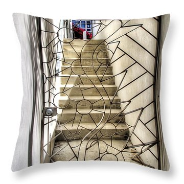 Moon And Gate Throw Pillow